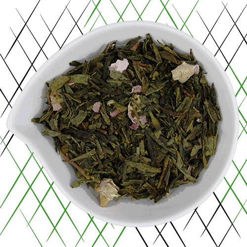 thé vert bio à la rose