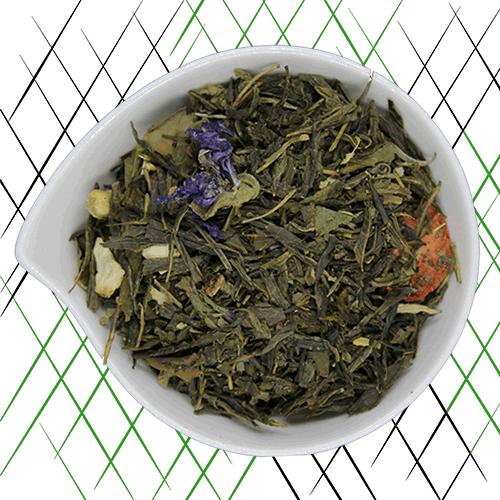 légèreté, thé vert bio à la violette