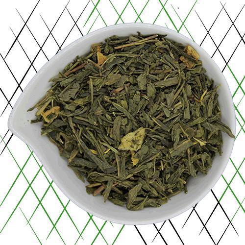 thé vert bio à la pêche