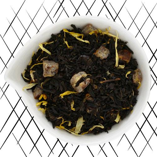 Thé noir bio à la vanille et au caramel