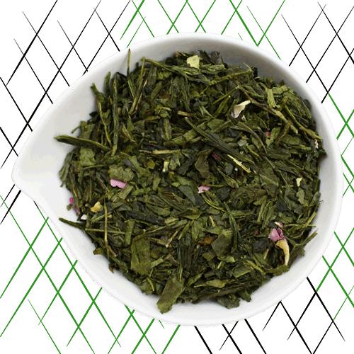Un thé vert bio aux fleurs