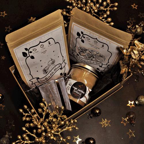christmas box candle