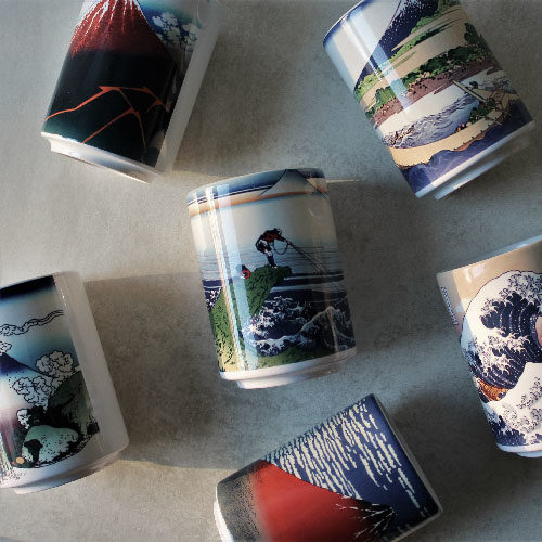 mont fuji tasses japonaises